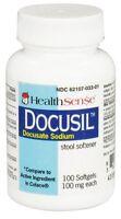 6 Pk Health Sense Docusil Docusate Sodium Stool Softener 100mg 100 Softgels Each on sale