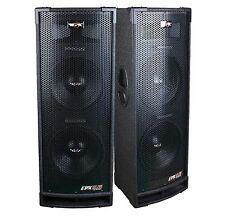"2 Epic Audio EPX12.28C DUAL 12"" 2400 Watt DJ/PA/ PRO Speaker 3-Way 8-Ohm Passive"