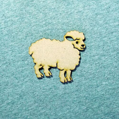 Discount packs Animal Child like SHEEP shapes 50mm high  6//9//12//25 MDF #AS117