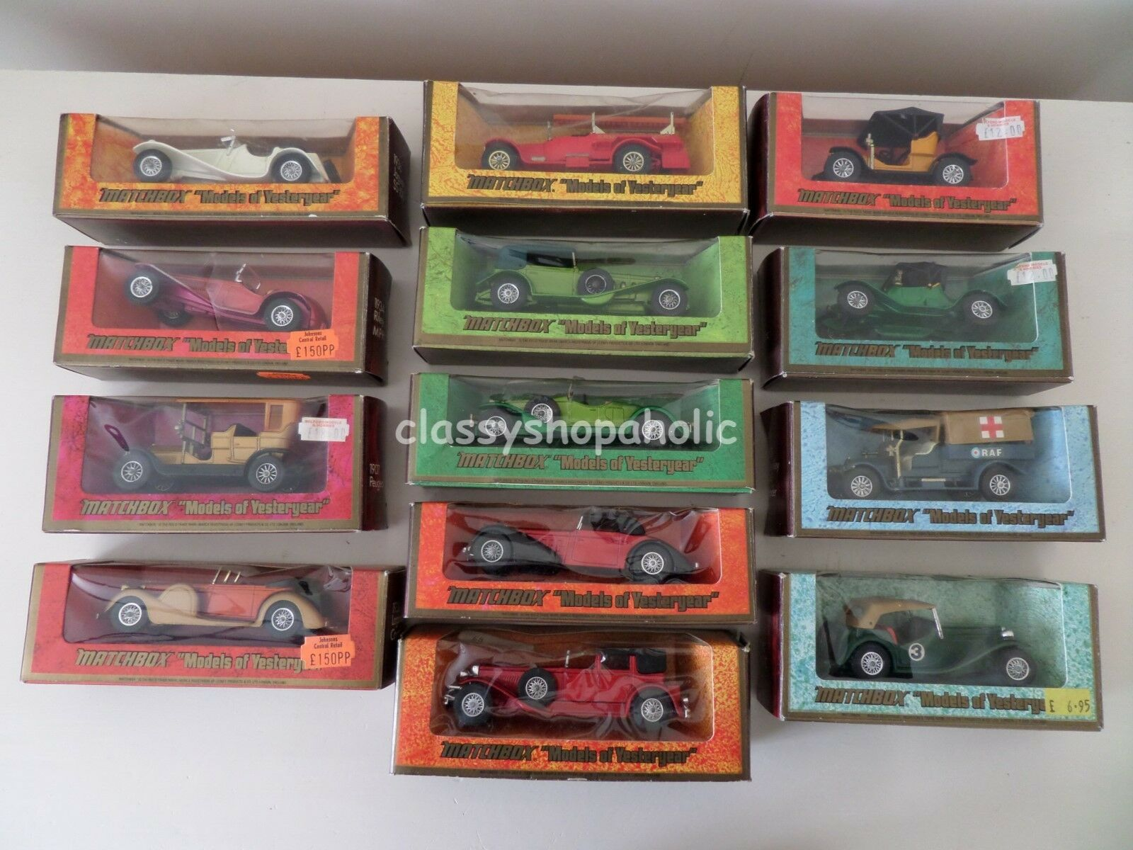 Matchbox Models of Yesteryear - Y-1 Y-3 Y-4 Y-5 Y-6 Y8 Y-11 Y-13 Y-14 Y-16 Y-1Y