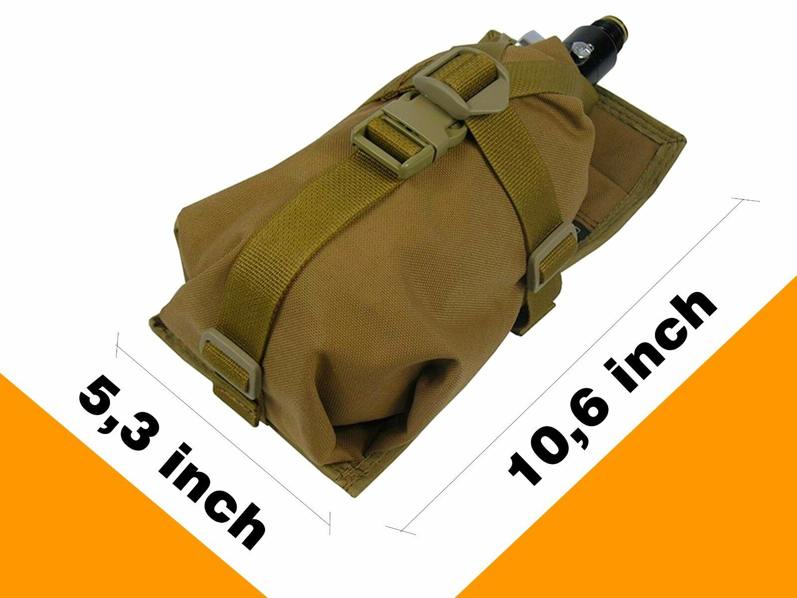 Pouch Case molle pals coyote brown Ninja Air Tank olive PAINTBALL bag waterproof