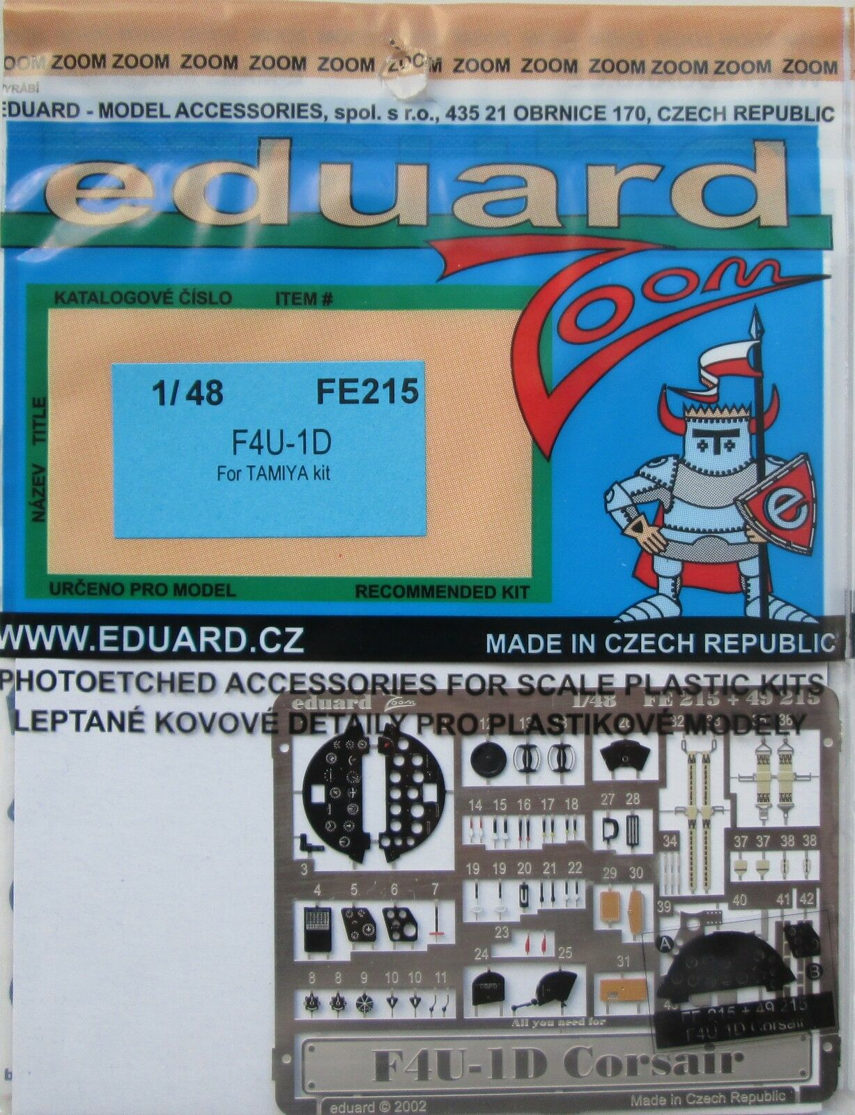 Eduard Zoom FE215 1//48 Terminal F4U-1D Corsair Tamiya