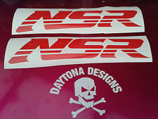 NSR FAIRING PANEL RED CUSTOM STICKERS GRAPHICS DECALS