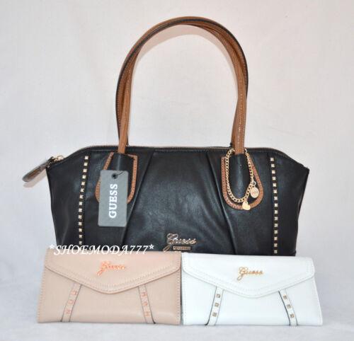 GUESS Tahlia Rosata Satchel Bag Purse Wallet Set Charm Studded Nude Chalk Multi