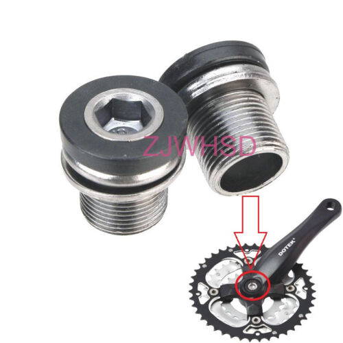 2pcs M15 Full Speed Ahead FSA Crank Arm Bolts screw with Caps ISIS Bike Bicycle