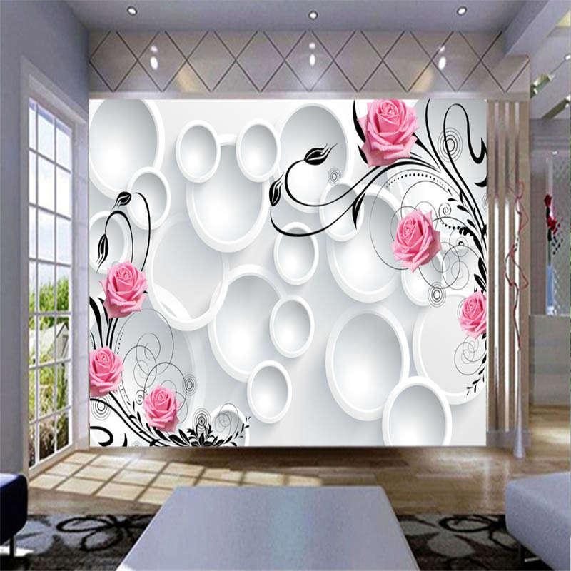 Fancy Massive Circle 3D Full Wall Mural Photo Wallpaper Printing Home Kids Decor