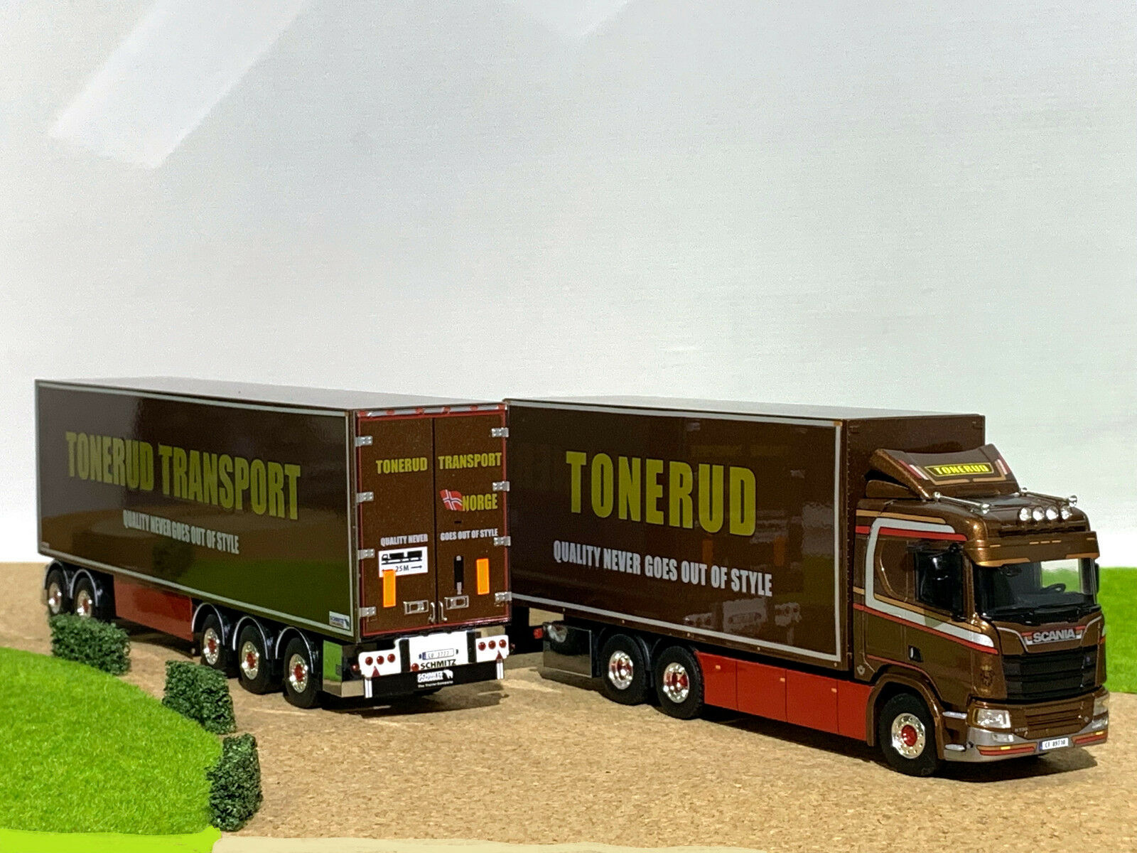 WSI Camion, NUOVO SCANIA R normale CR20N 6x4 riged CAMION LZV Combi  tonerud , 1:50