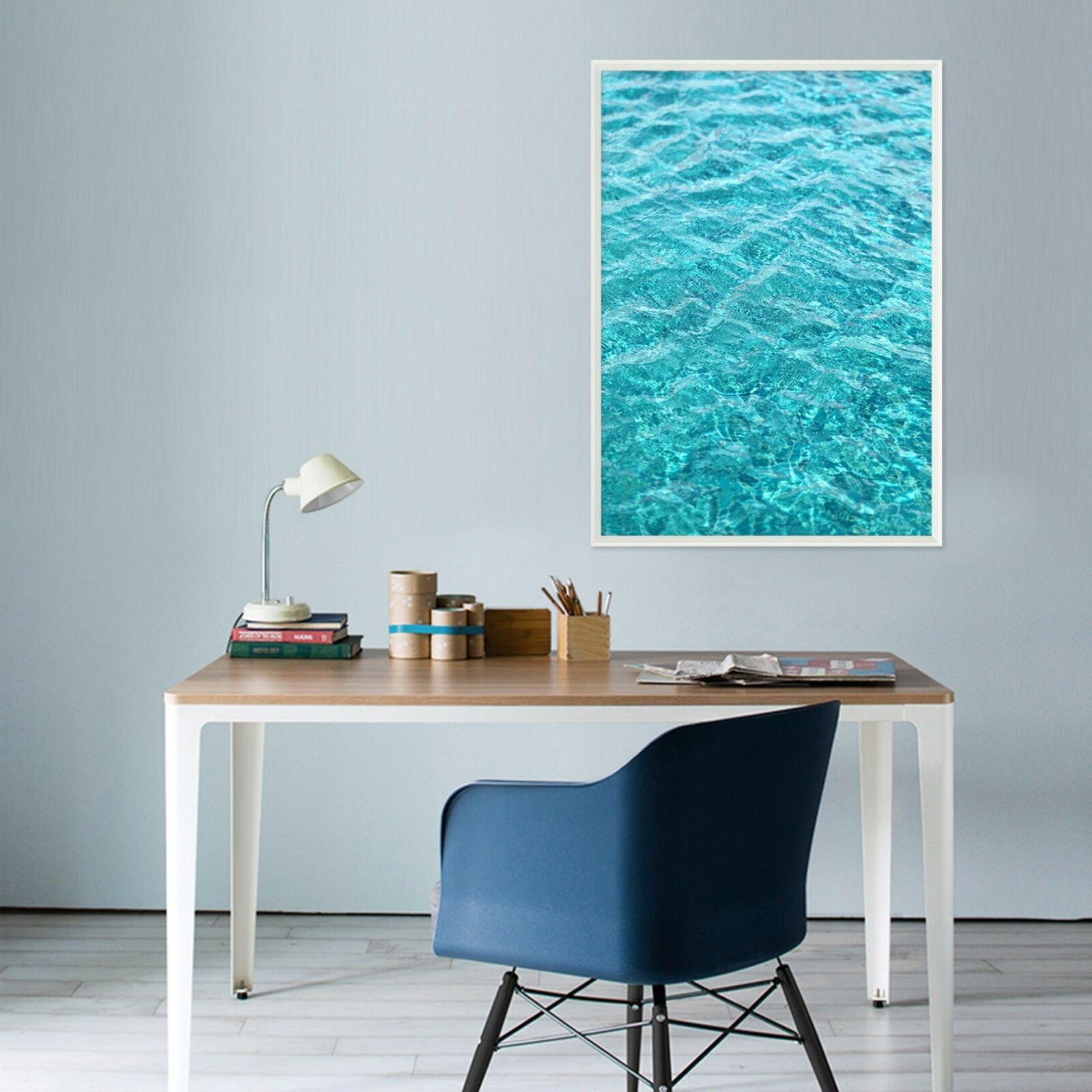 3D Sea Water  Blau 1 Framed Poster Home Decor Drucken Painting Kunst AJ WandPapier