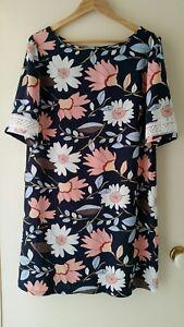 NEW-Wild-Flower-Shift-dress-size-12-14