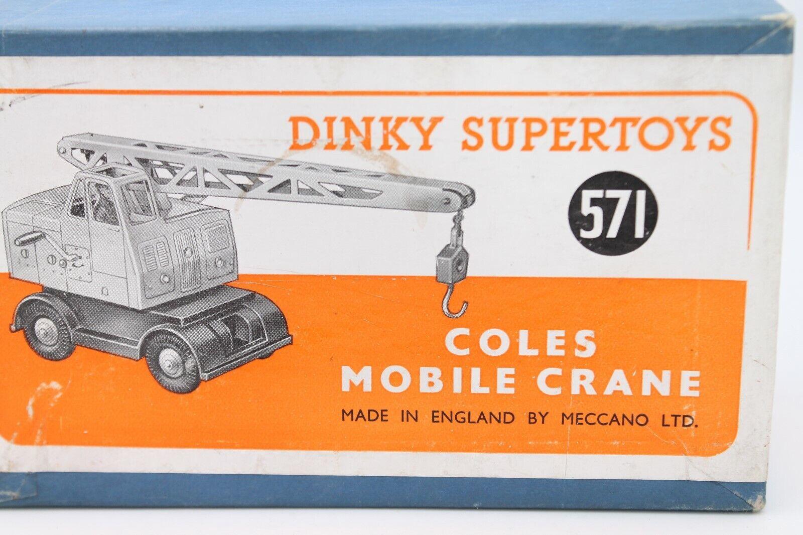 DINKY TOYS 571  COLES MOBILE CRANE CRANE CRANE  ORIGINAL MECCANO 1951  OVP  RAR 133