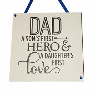 Dad-a-sons-Handmade-wooden-Plaque-Father-039-s-Day-gift-Dad-Gift