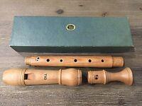Vintage Ariel Gill Alto All Wood Recorder - Made in Israel w/ Original Box NICE~
