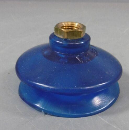 Vacuum Cup 2in Dia Blue Vinyl Pipe Thread VC 32 B