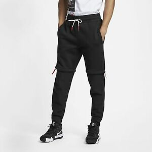 Nike-Kyrie-Pants-Mens-Black-Active-Wear-Solid-With-Zippers-Athleisure-AJ3389-010