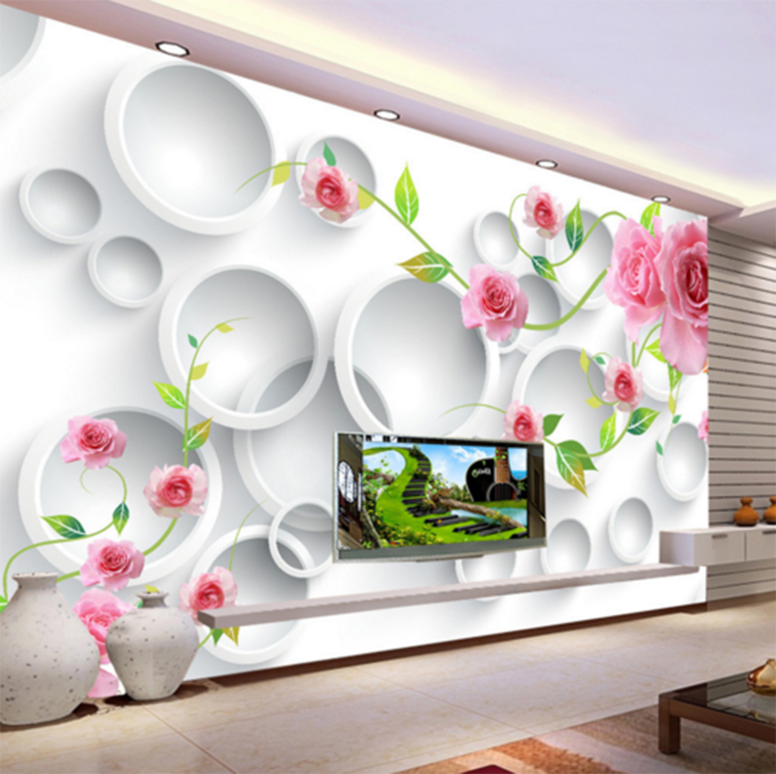 3D Weiß Compass Flowers Paper Wall Print Wall Decal Decal Decal Wall Deco Indoor Murals 96506c