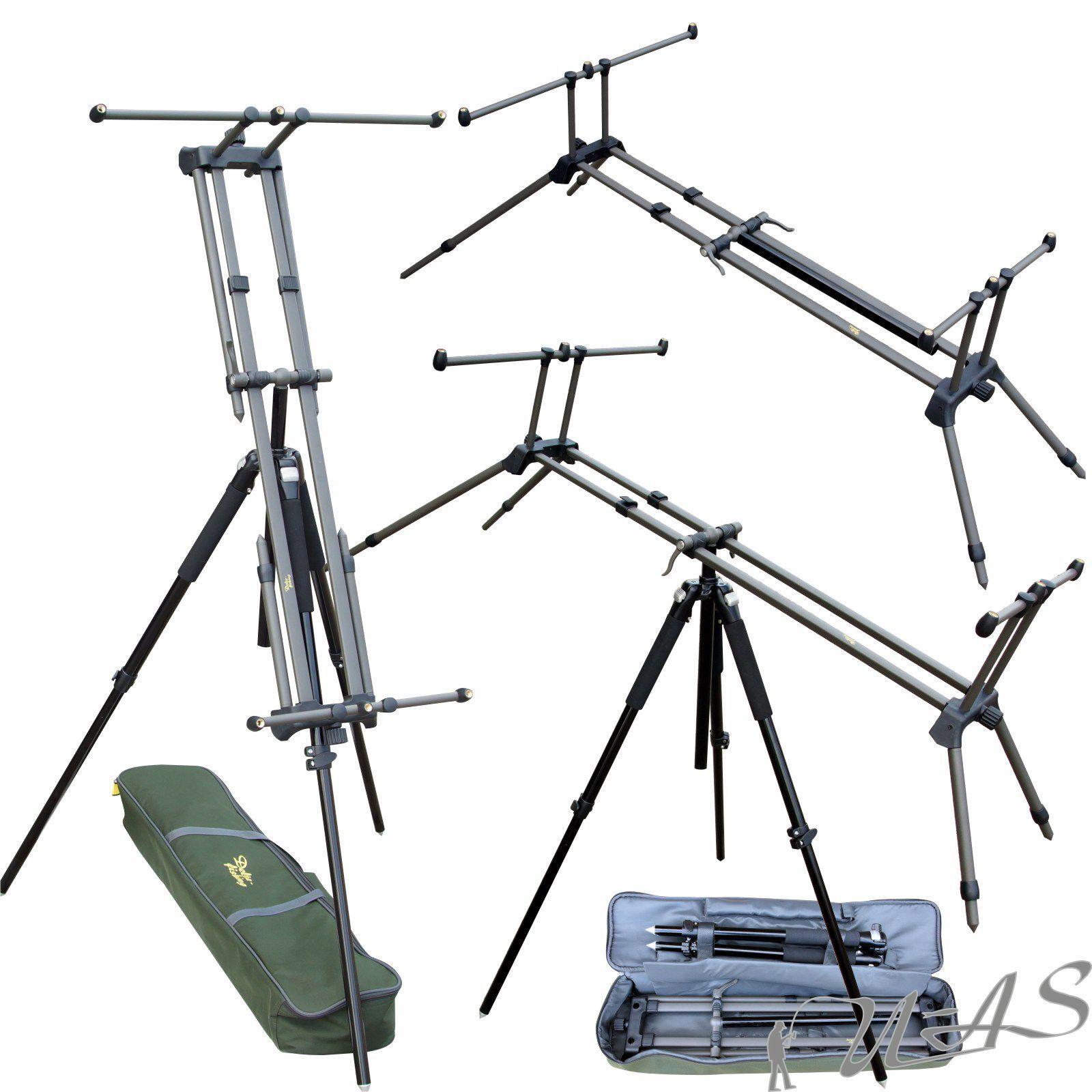 DELTA Fishing Transformer ROD POD 3 in 1 XXL High POD tre gamba 3 canne RBA