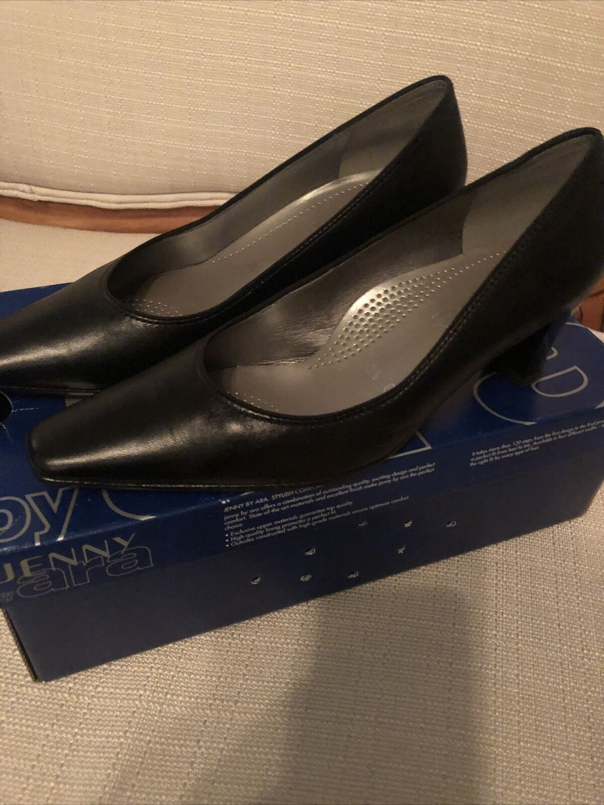 Jenny by Ara - Shoes Classics Ladies Leather Black UK3.5 - G-Very Good Condition