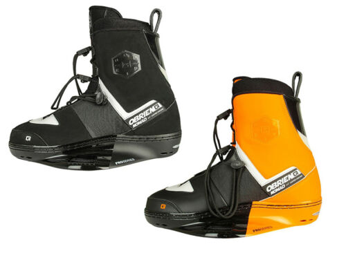 O'BRIEN Jr./small NOMAD Wakeboard Bindings UK 1-4 or 3-5, Black or Orange. 42785