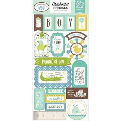 Echo Park Paper Company Sweet Baby Boy 6x13 Chipboard Phrases