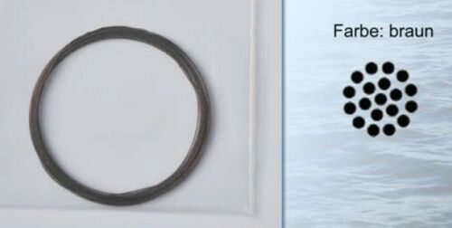 Pilkmaxx 5m Stahlvorfach 1x19 fädig knotbar 1,40€//1m