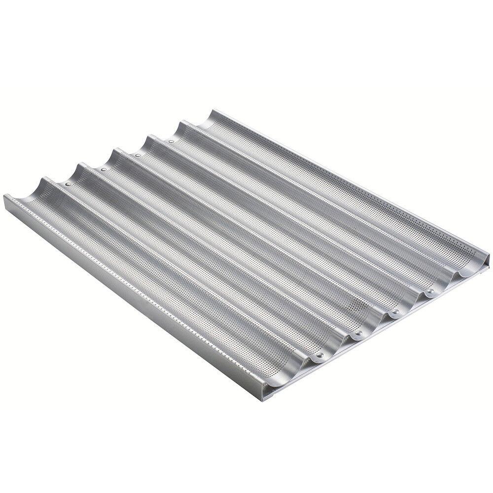Baguette french Pan Pan Calibre 16 Perforada de aluminio de tamaño del molde  2-13 32  X 26