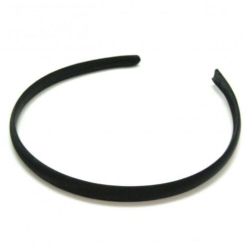 Narrow Satin Covered Plain Alice Band Hair Band Headband 1cm Hair Accessories