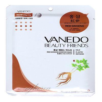 VANEDO RED GINSENG MASK PACK 7PCS NEW FACIAL MASK SHEET FREESHIPPING