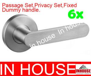 6x-door-handles-passage-privacy-fixed-dummy-handle-stainless-steel-satin
