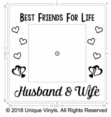 Best Friends for Life Vinyl sticker for IKEA RIBBA BOX FRAME Husband /& Wife