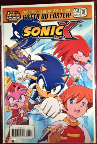SONIC X HEDGEHOG Comic Book #4 February 2006 First Edition Bagged Boarded MINT