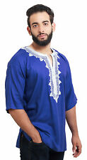 Moroccan Shirt Tunic Caftan Kaftan African Unisex Casual Top Blouse Handmade