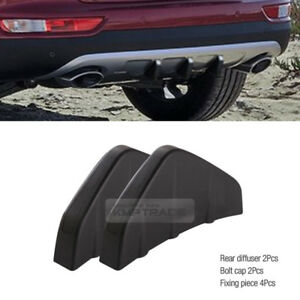 Promotion Rear Bumper Diffuser Molding Point Garnish Black Red For All Car