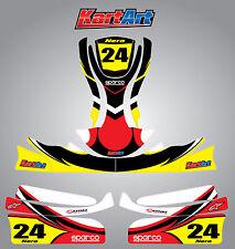 Arrow X9 go kart  full custom KART ART sticker kit NERO STYLE / graphics