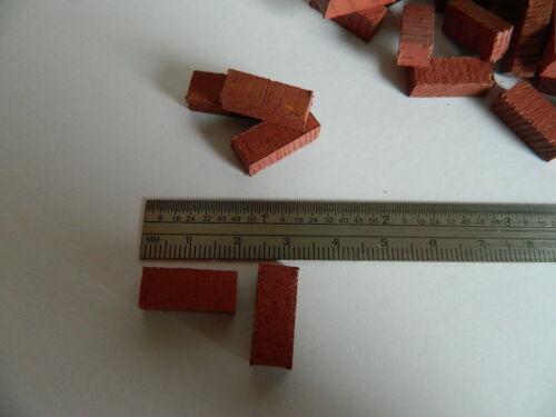 Casa delle Bambole x 50 in legno di argilla mattoni colorati G3-12