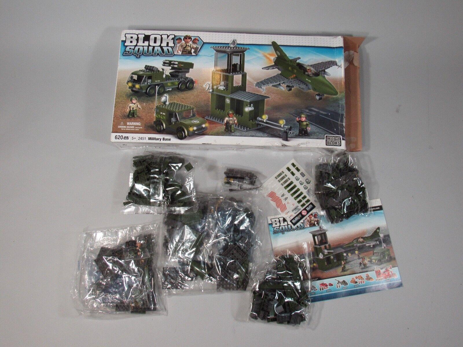Blok Squad Military Base Mega Blok 620 pcs. Discontinued New In Open Box