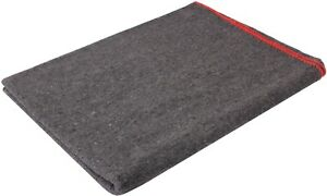 Grey-Wool-Emergency-Rescue-X-Large-Blanket-66-034-x-90-034-Warm-Winter-Cover-Throw