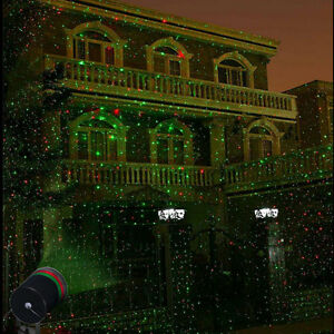 Outdoor Xmax Lawn Red Laser Spotlight Light Display Garden Christmas Decor