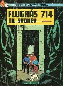 Tintin Vol 714 pour Sydney 1st Edition in Icelandic - FREE ...