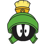 Marvin The Martian Vinyl Decal Auto Graphics Wall Sticker Looney 4 Stickers