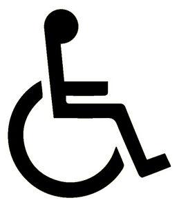 disabled logo 3m scotchlite reflective sticker decal 680 car rh ebay co uk disable logoff disable logon trigger