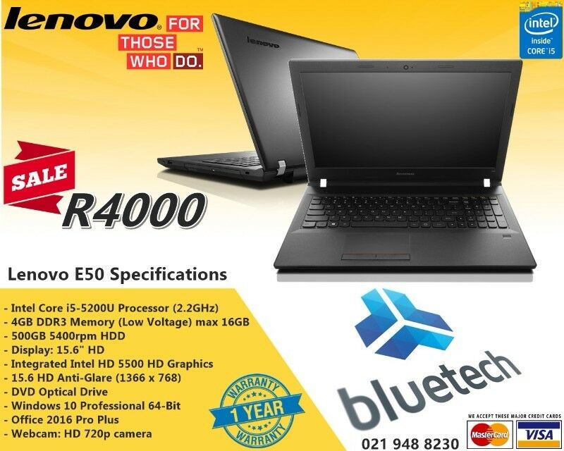Lenovo E50-80 Intel Core i5 - 8GB ram - 15 6