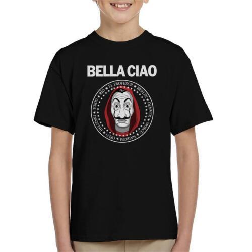 Casa De Papel Money Heist Bella Ciao Kid/'s T-Shirt