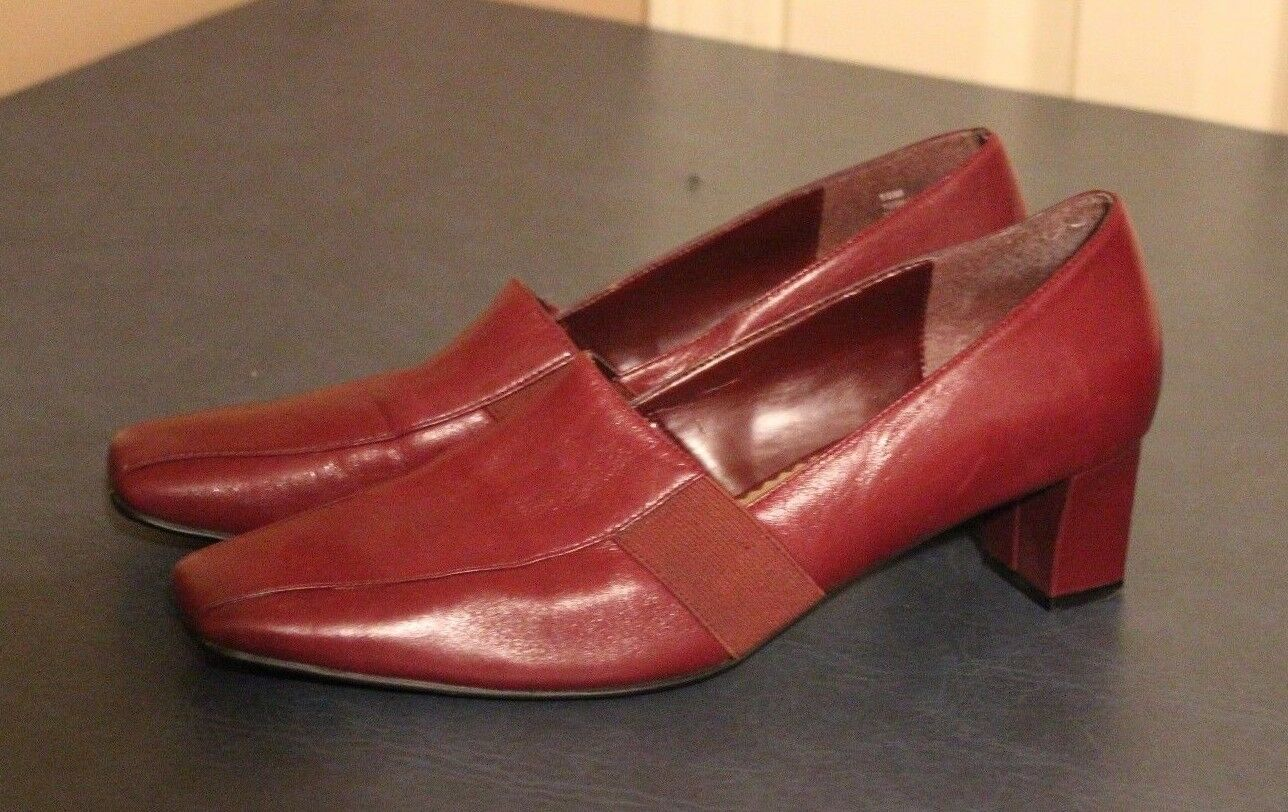 Naturalizer Womens Heel Dress Pumps slip on loafer Leather shoes sz 10M