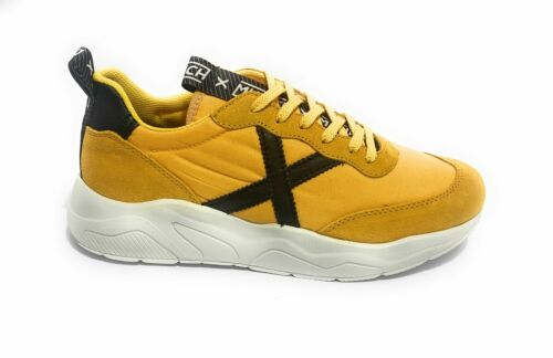 Scarpe Munich sneaker running Wave 05 pelle scamosciata// nylon giallo U20MU07