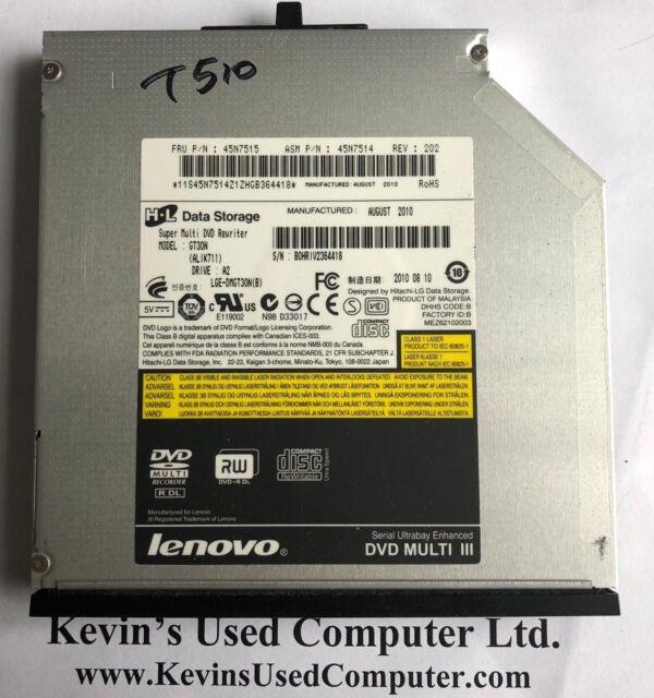 Lenovo ThinkPad T510 Super Multi DVD Rewriter 45N7514 MODEL GT30N