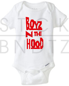 5490b9406 BOYZ IN THE HOOD ICE CUBE NWA BABY T-SHIRT FUNNY CUTE SHOWER GERBER ...