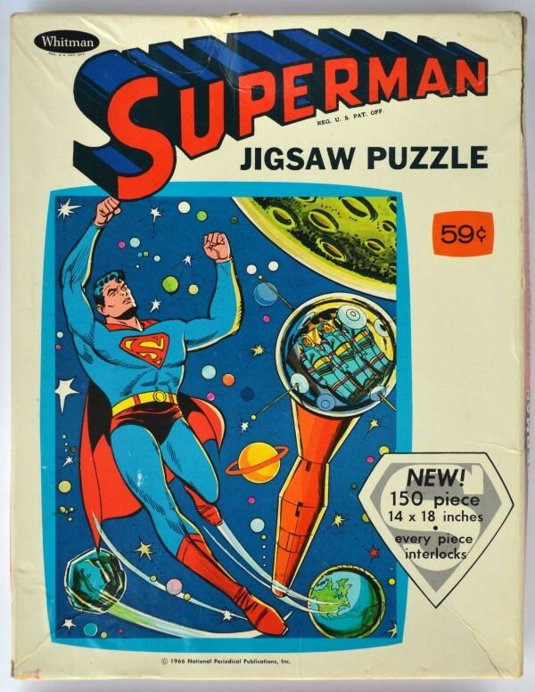 SUPERuomo 150 PIECE JIGSAW PUZZLE completare Whituomo 1966  MIB spazio Station  prima qualità ai consumatori