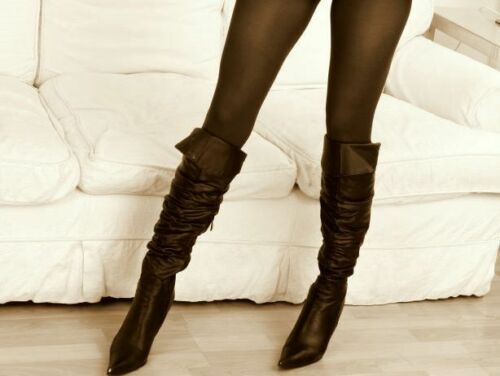 Peavey Shiny Gloss Pantyhose Shimmery Tights B C D Q A Hooters Uniform 40 Denier