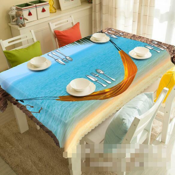 3D Sea Swing 8Tablecloth Table Cover Cloth Birthday Party Event AJ WALLPAPER AU