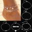 5pcs-set-Fashion-Ankle-Bracelet-Set-Anklet-Gold-Silver-Foot-Beach-Chain-Jewelry thumbnail 1